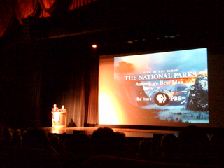 Ken Burns at the Palace of Fine Arts